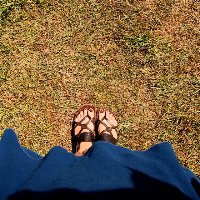 east sooke sandal feet